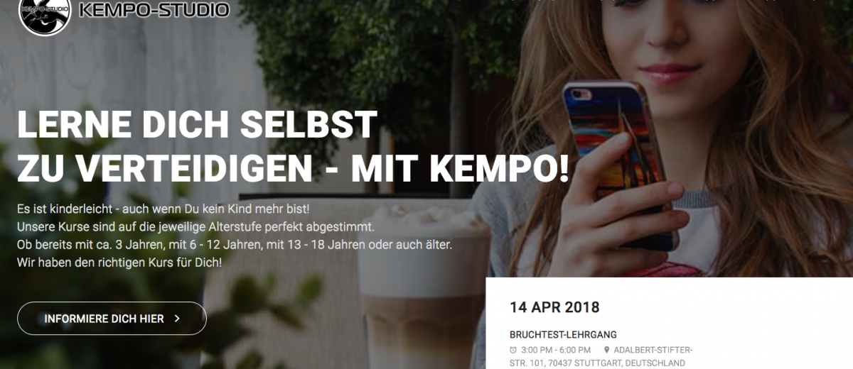 KEMPO-STUDIO Homepage geht online!