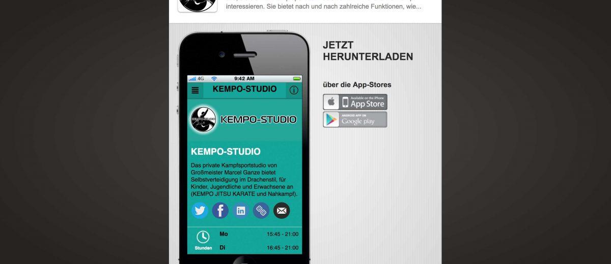 KOSTENLOS: die APP vom KEMPO-STUDIO!