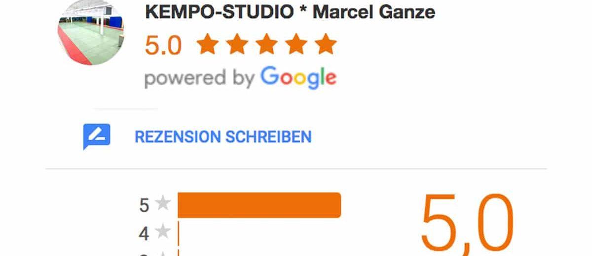 KEMPO-STUDIO mit 5,0 Sterne bewertet!