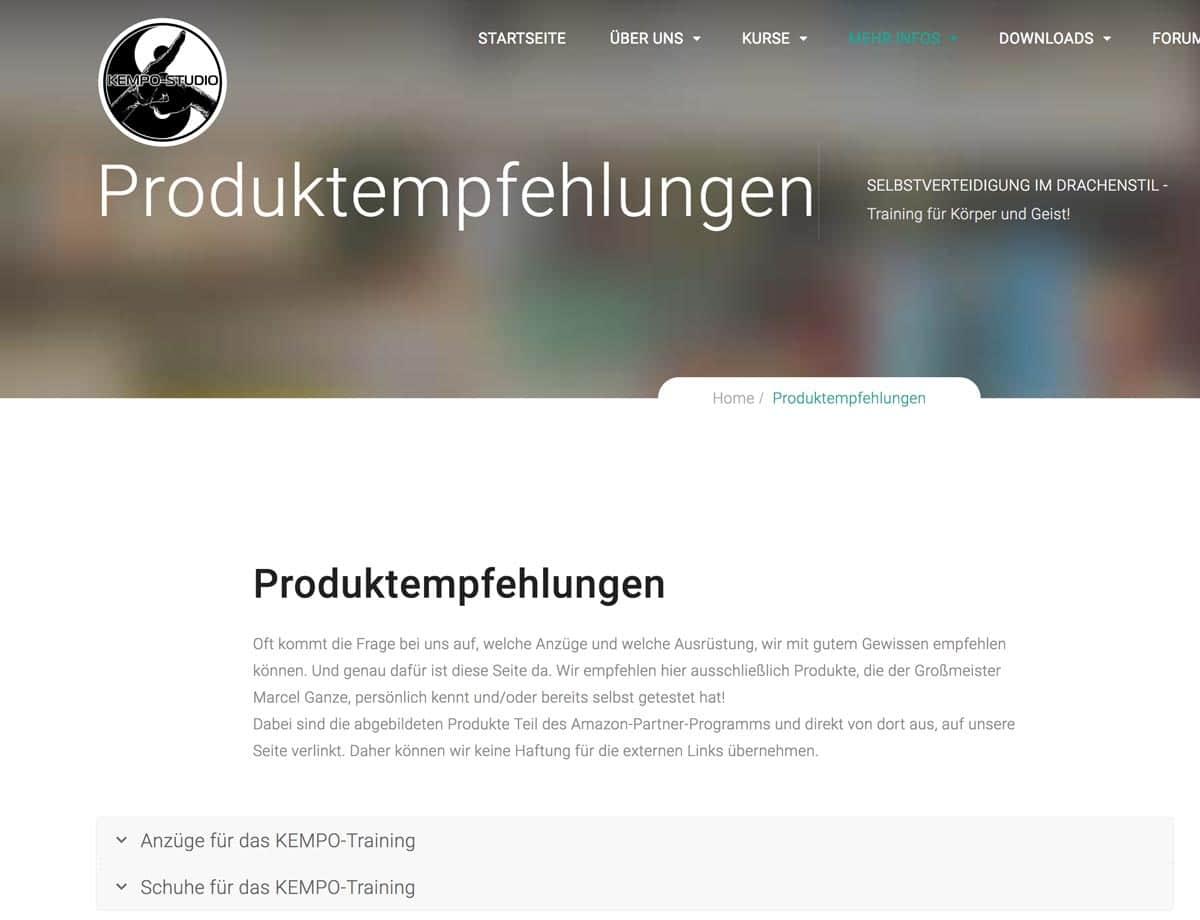 Produktempfehlungen