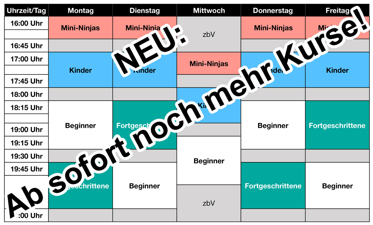 Neuer Trainingsplan 3-2019